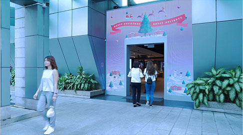 LED Entrance Wall – Singtel